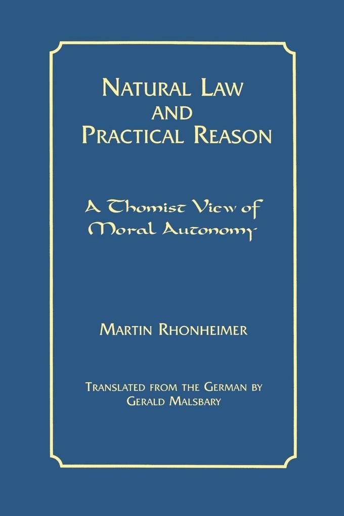 Natural Law and Practical Reason als Taschenbuch