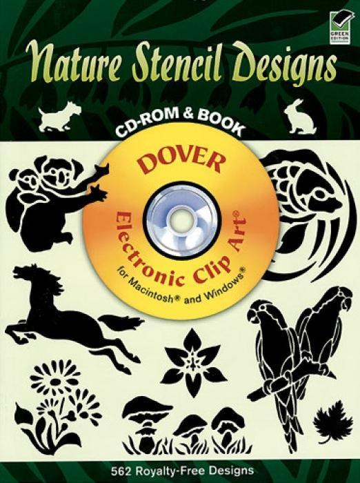 Nature Stencil Designs CD-ROM and Book als Taschenbuch