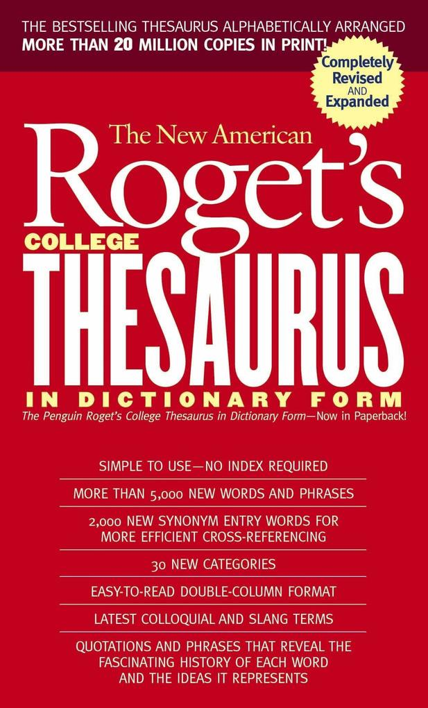 New American Roget's College Thesaurus in Dictionary Form (Revised & Updated) als Taschenbuch