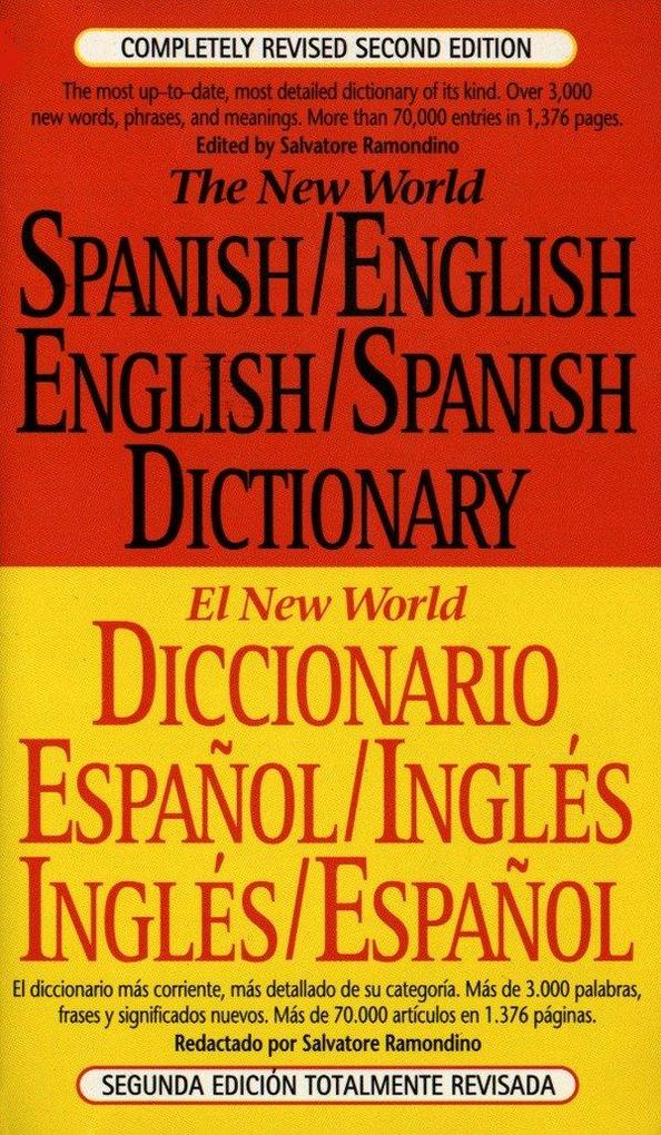 The New World Spanish-English, English-Spanish Dictionary: Completely Revised Second Edition als Taschenbuch