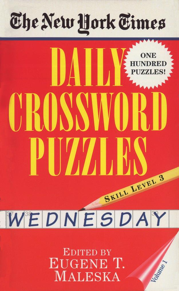 New York Times Daily Crossword Puzzles (Wednesday), Volume I als Buch