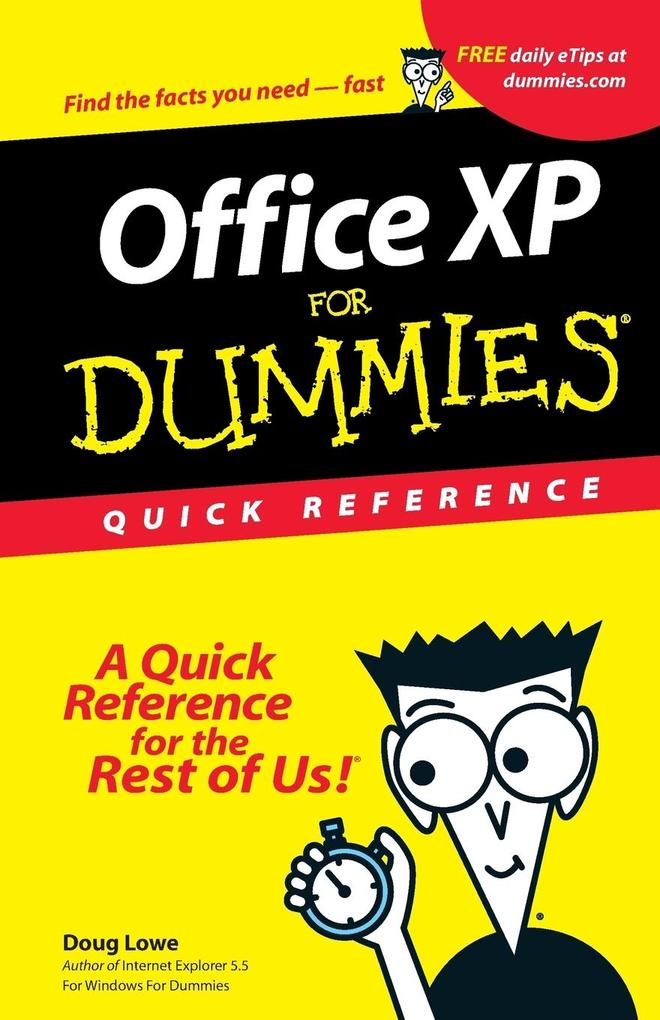 Microsoft Office XP for Windows for Dummies Quick Reference als Buch