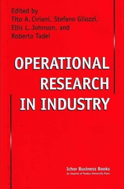 Operational Research in Industry als Buch