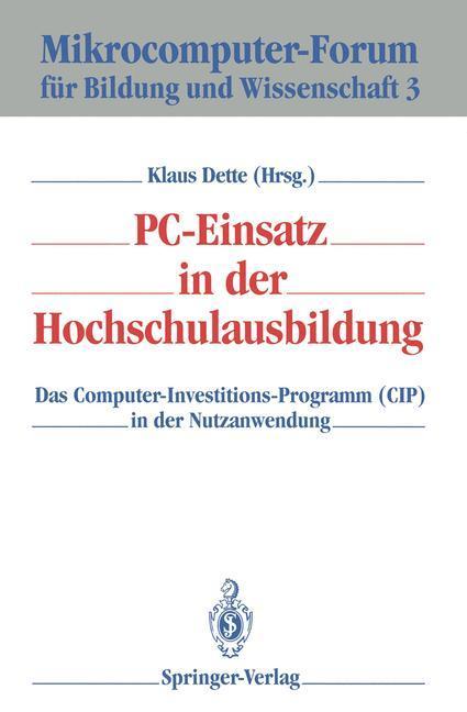 PC-Einsatz in der Hochschulausbildung als Buch