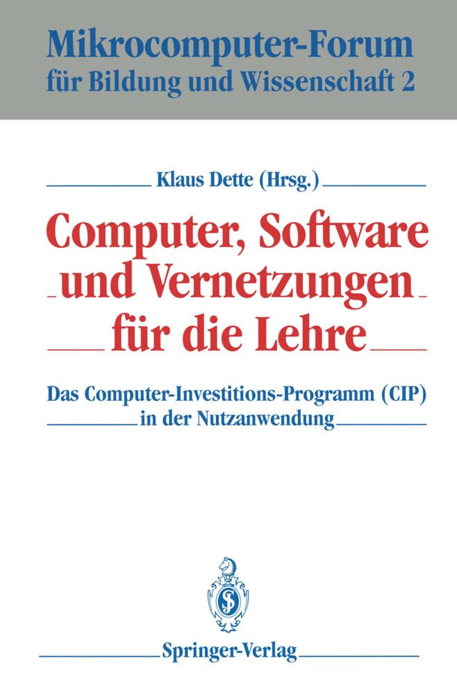 Computer, Software und Vernetzungen für die Lehre als Buch (gebunden)