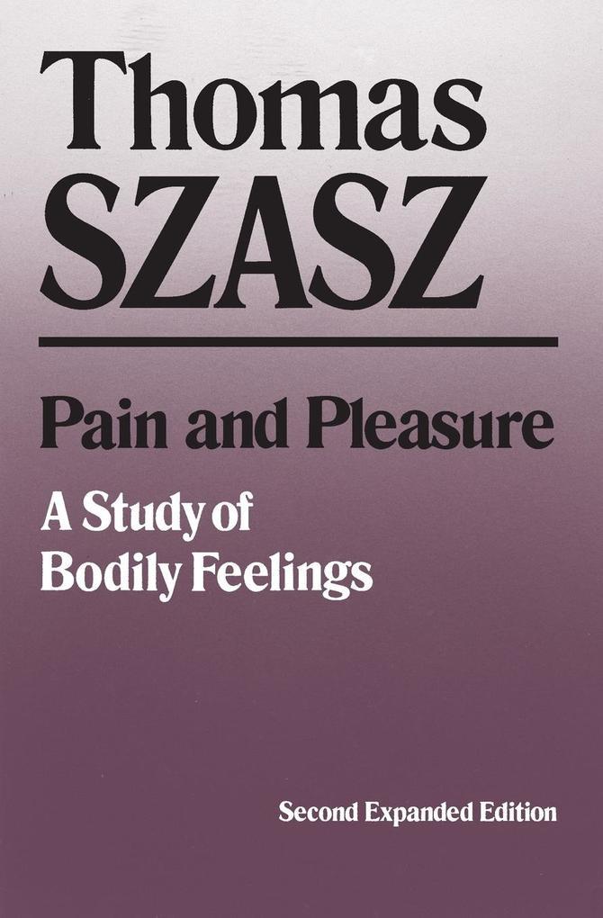 Pain and Pleasure als Taschenbuch