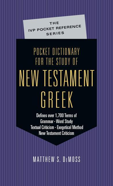 Pocket Dictionary for the Study of New Testament Greek als Taschenbuch