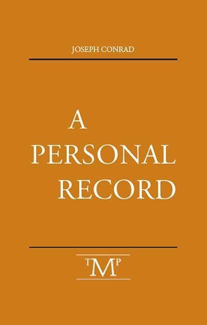 A Personal Record als Taschenbuch