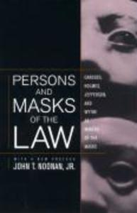 Persons and Masks of the Law: Cardozo, Holmes, Jefferson, and Wythe as Makers of the Masks als Taschenbuch