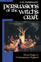 Persuasions of the Witch's Craft: Ritual Magic in Contemporary England als Taschenbuch