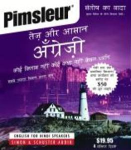 Pimsleur English for Hindi Speakers Quick & Simple Course - Level 1 Lessons 1-8 CD: Learn to Speak and Understand English for Hindi with Pimsleur Lang als Hörbuch