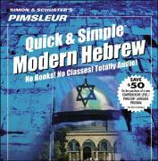 Pimsleur Hebrew Quick & Simple Course - Level 1 Lessons 1-8 CD: Learn to Speak and Understand Hebrew with Pimsleur Language Programs als Hörbuch