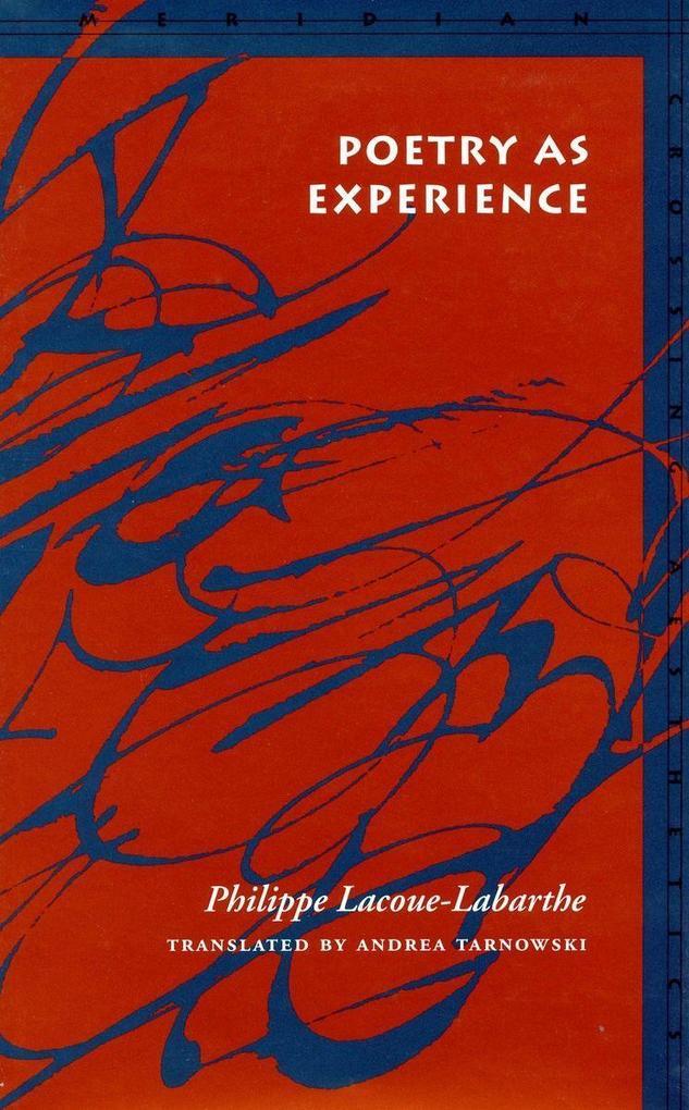 Poetry as Experience als Taschenbuch