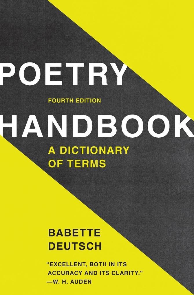 Poetry Handbook als Buch
