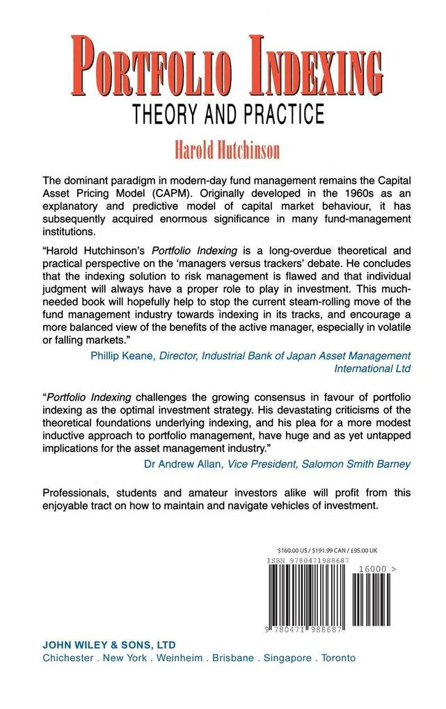 Portfolio Indexing: Theory and Practice als Buch