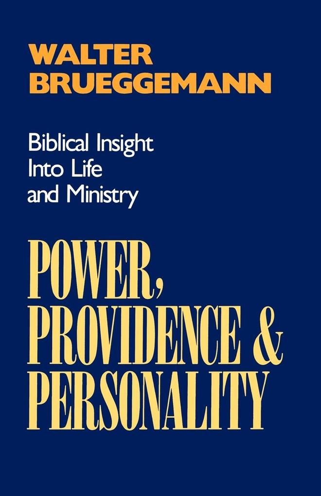 Power, Providence, and Personality als Taschenbuch