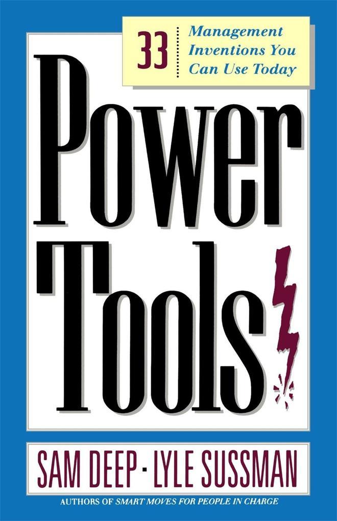 Power Tools als Taschenbuch