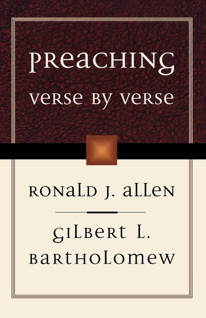 Preaching Verse by Verse als Taschenbuch