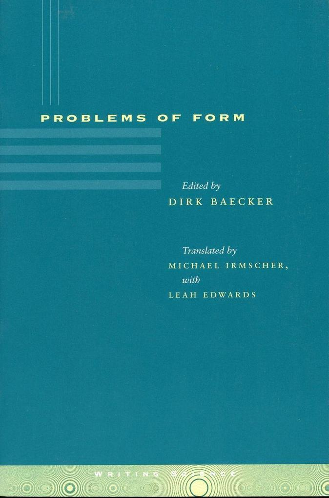 Problems of Form als Taschenbuch