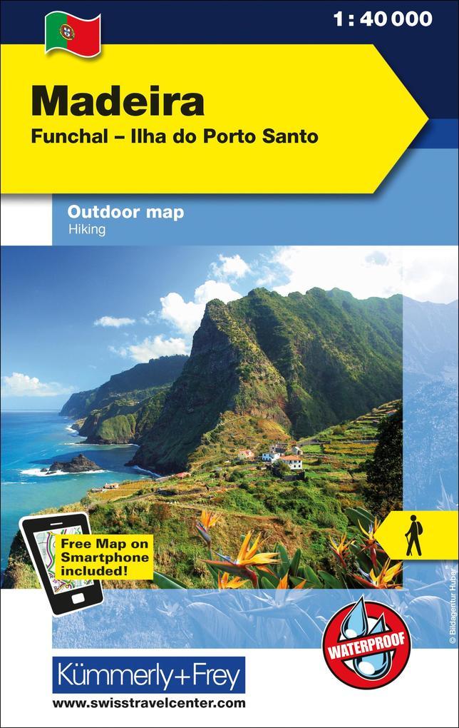 KuF Madeira Outdoorkarte 1 : 40 000 als Buch
