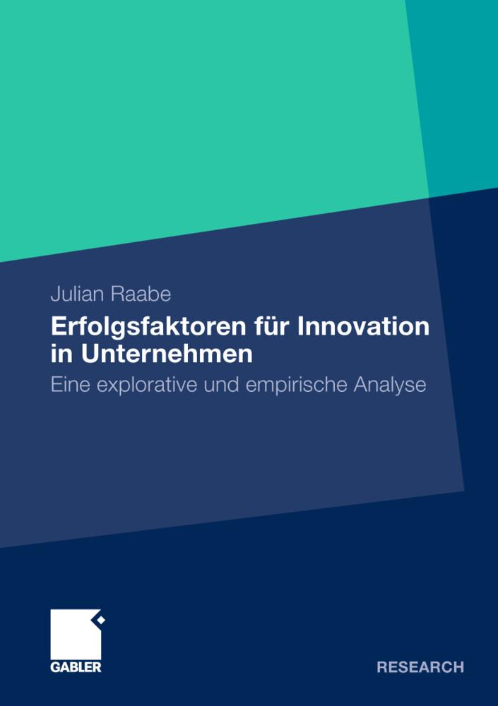 Erfolgsfaktoren für Innovation in Unternehmen als Buch