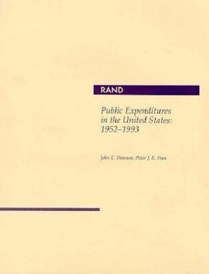 Public Expenditures in the United States: 1952-1993 als Taschenbuch