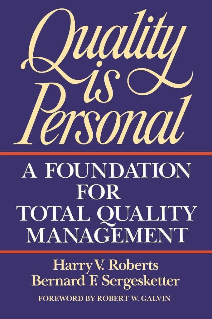 Quality Is Personal als Taschenbuch