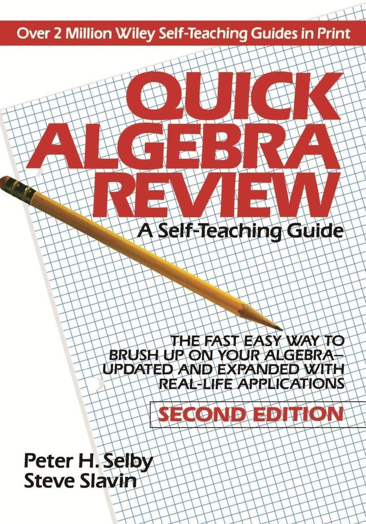 Quick Algebra Review STG 2e als Buch