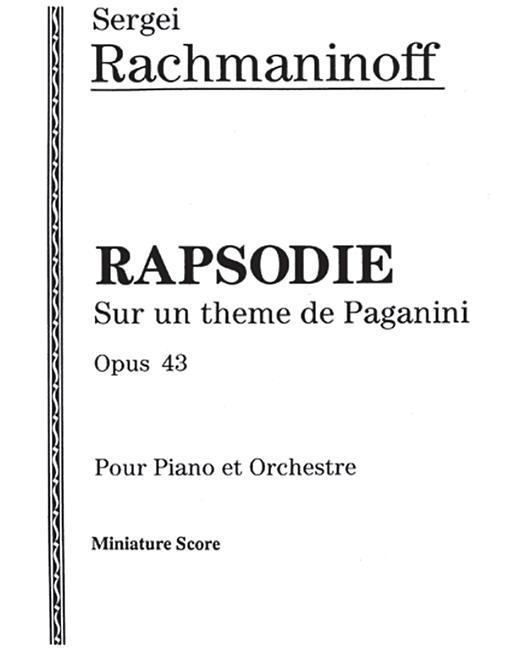 Rhapsodie, Op. 43: Miniature Score als Taschenbuch