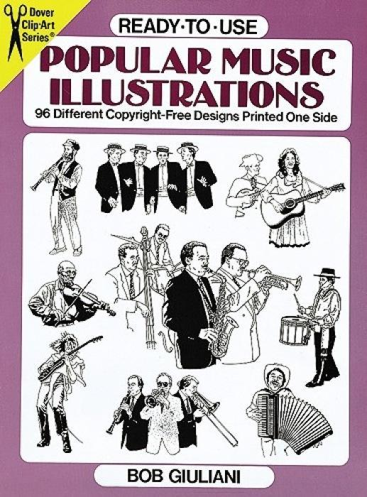 Ready-To-Use Popular Music Illustrations: 96 Different Copyright-Free Designs Printed One Side als Taschenbuch
