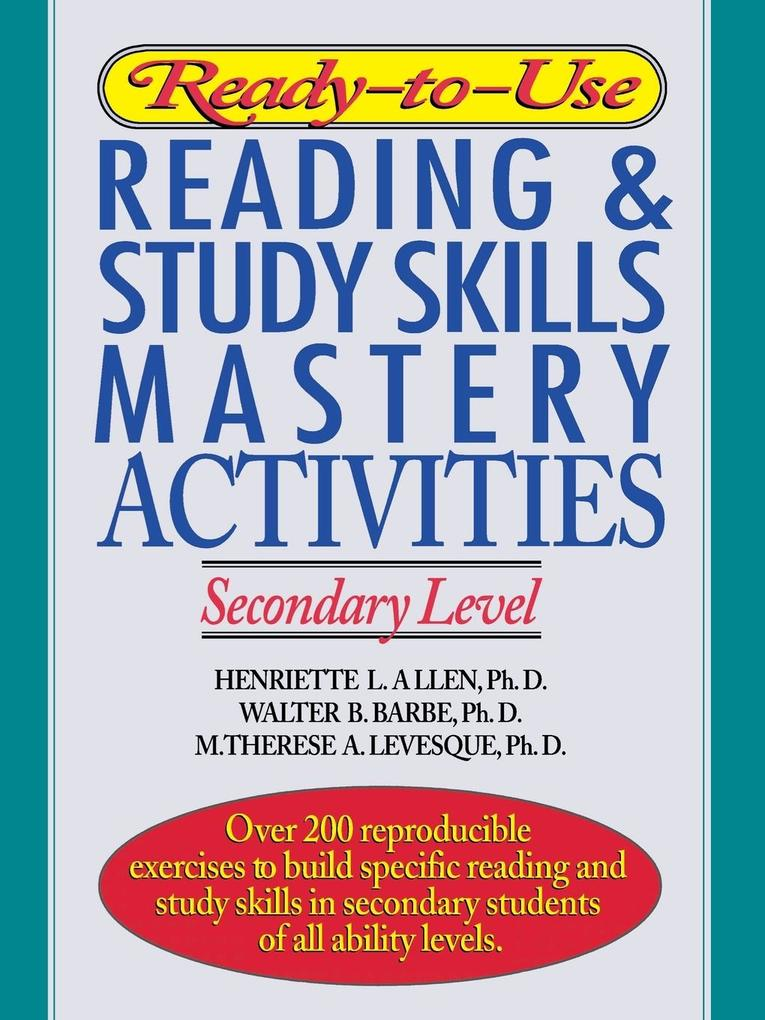 Ready-To-Use Reading & Study Skills Mastery Activities als Taschenbuch