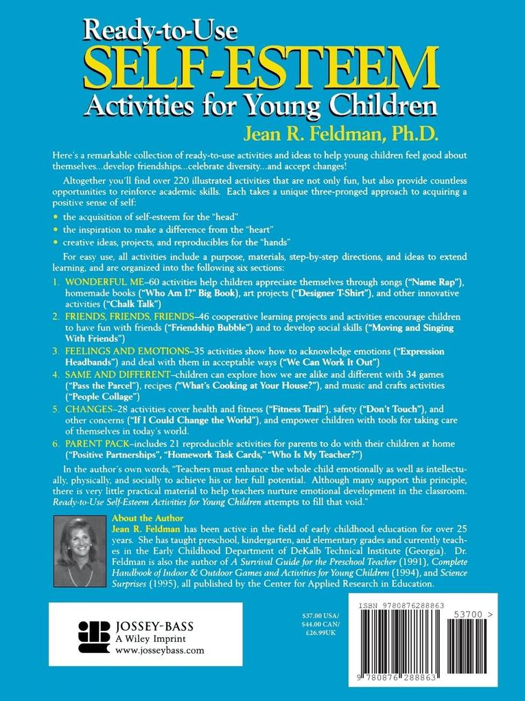 Ready-to-Use Self Esteem Activities for Young Children als Taschenbuch