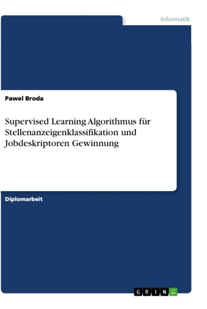 Supervised Learning Algorithmus für Stellenanze...
