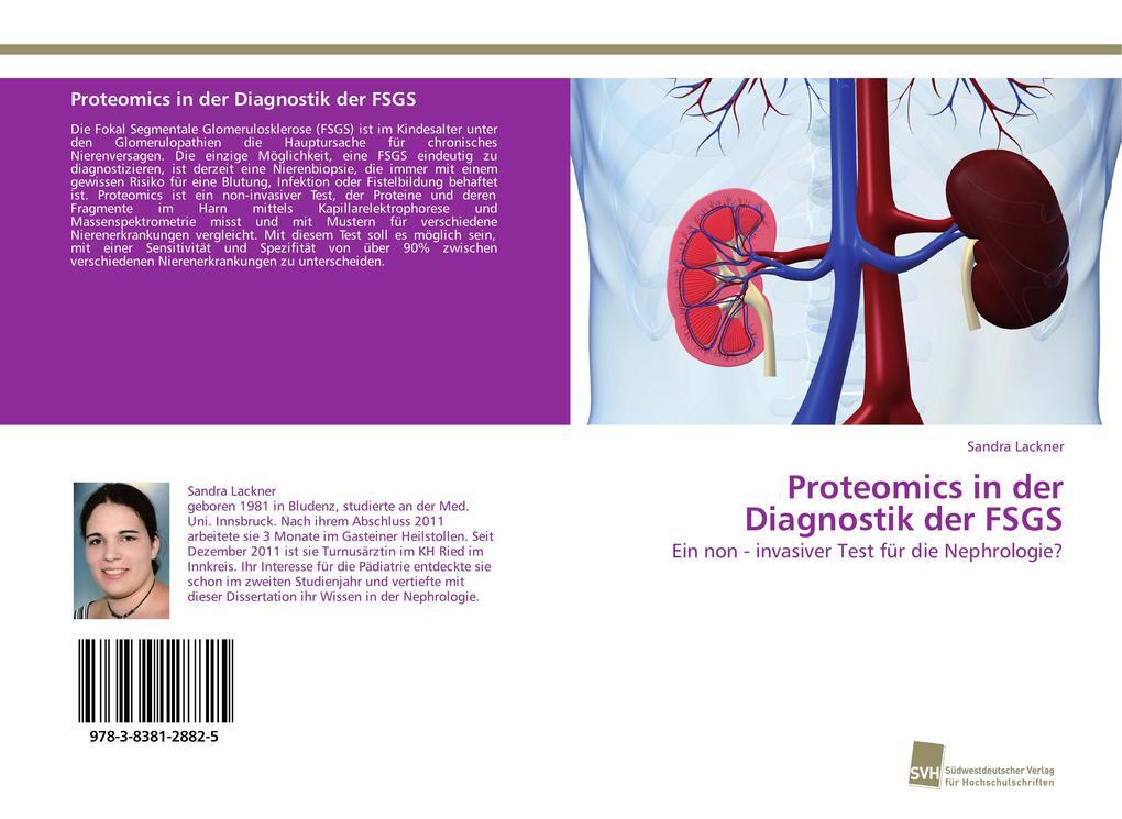 Proteomics in der Diagnostik der FSGS als Buch von Sandra Lackner - Südwestdeutscher Verlag für Hochschulschriften AG  Co. KG