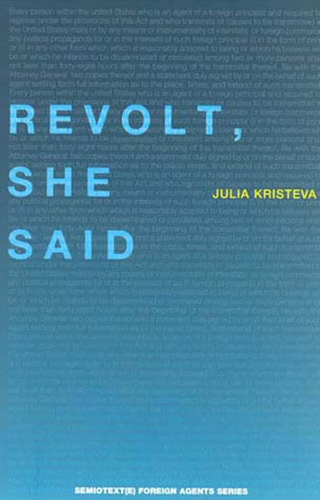 Revolt, She Said als Buch