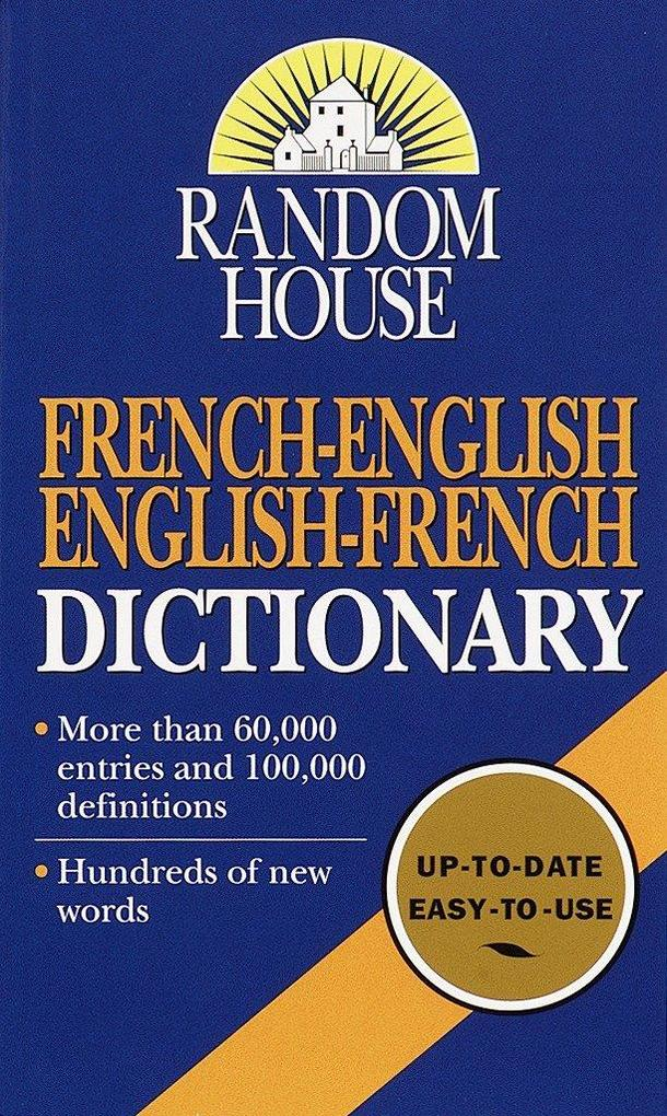 Random House French-English English-French Dictionary als Taschenbuch
