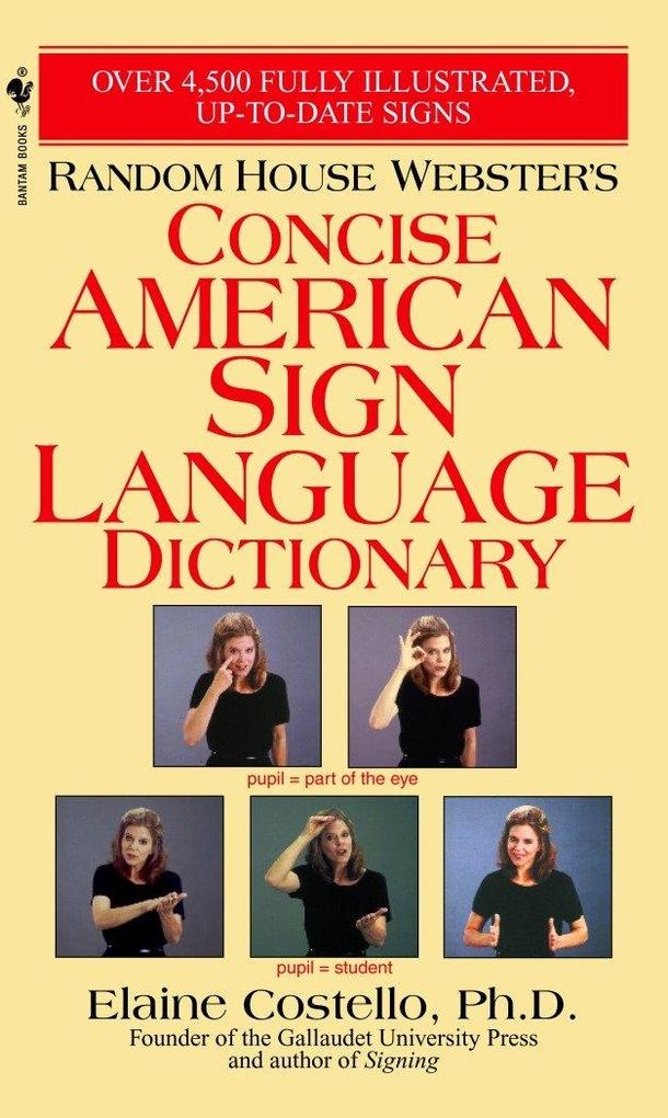 Random House Webster's Concise American Sign Language Dictionary als Taschenbuch