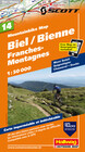 Mountainbike Map 14 Biel / Bienne, Franches-Montagnes 1 : 50 000