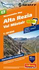 Mountain-Bike Karte 17. Alta Rezia, Livigno, Bormio, Val Müstair 1 : 50 000