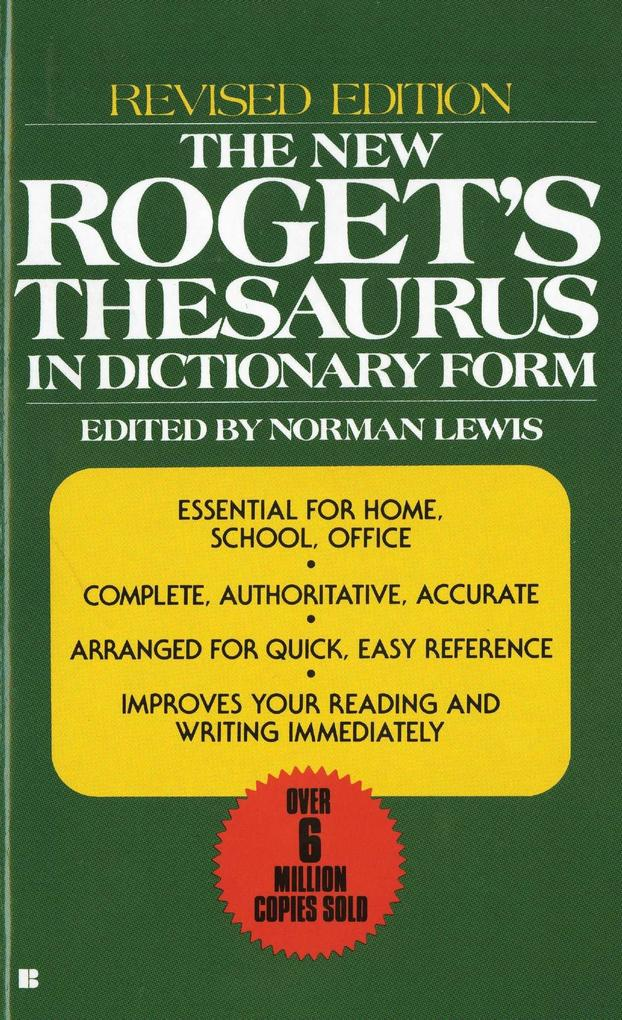The New Roget's Thesaurus in Dictionary Form als Taschenbuch