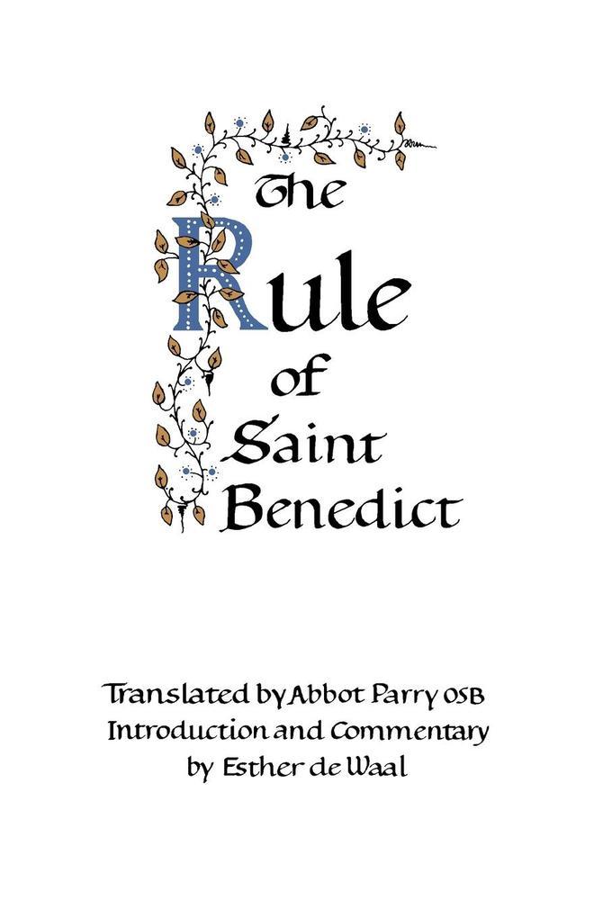 The Rule of Saint Benedict als Taschenbuch