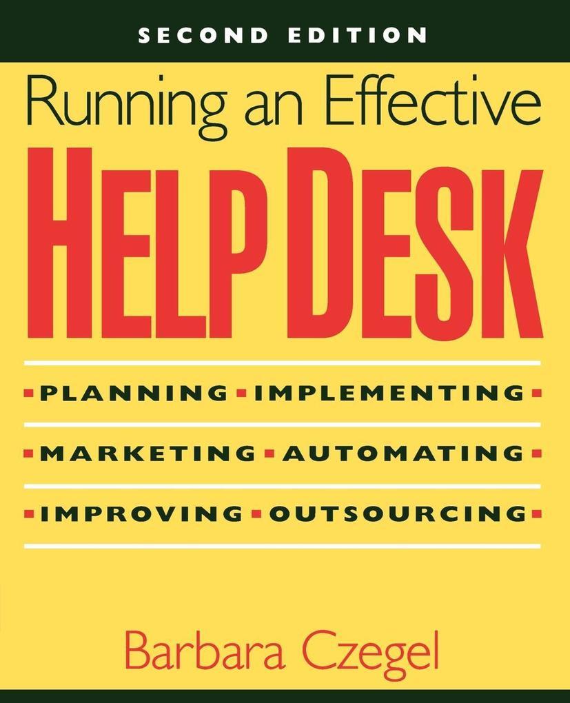 Running an Effective Help Desk als Buch