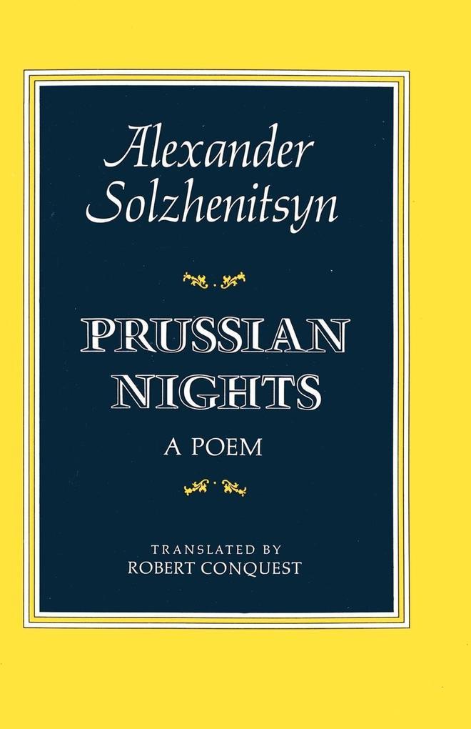 Prussian Nights: Bilingual Edition als Taschenbuch