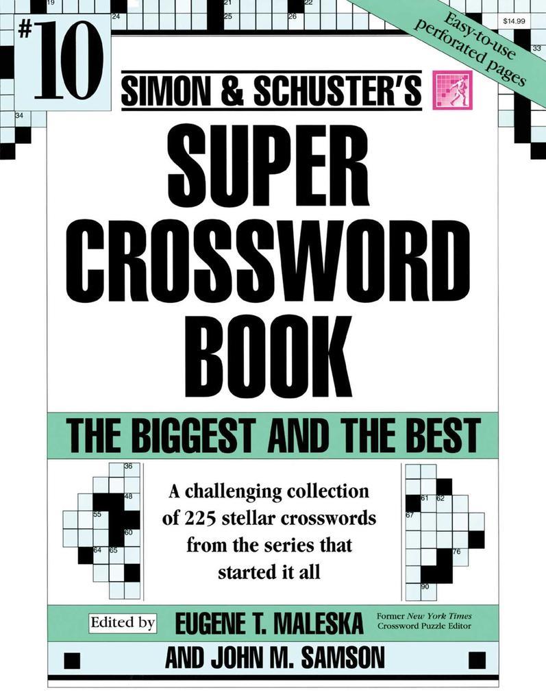 Simon & Schuster Super Crossword Book #10 als Taschenbuch