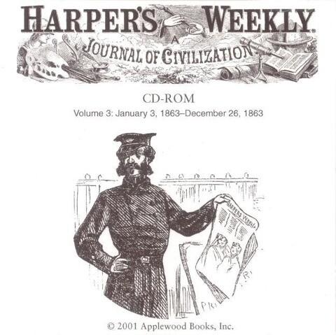Harper's Weekly CD 1863 als sonstige Artikel