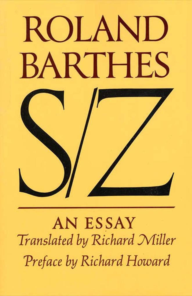 S/Z: An Essay als Taschenbuch