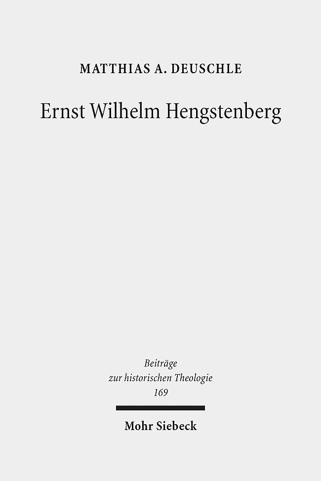 Ernst Wilhelm Hengstenberg als Buch