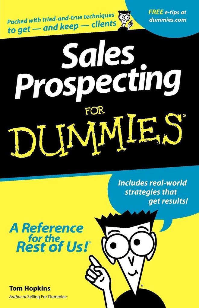 Sales Prospecting For Dummies als Taschenbuch
