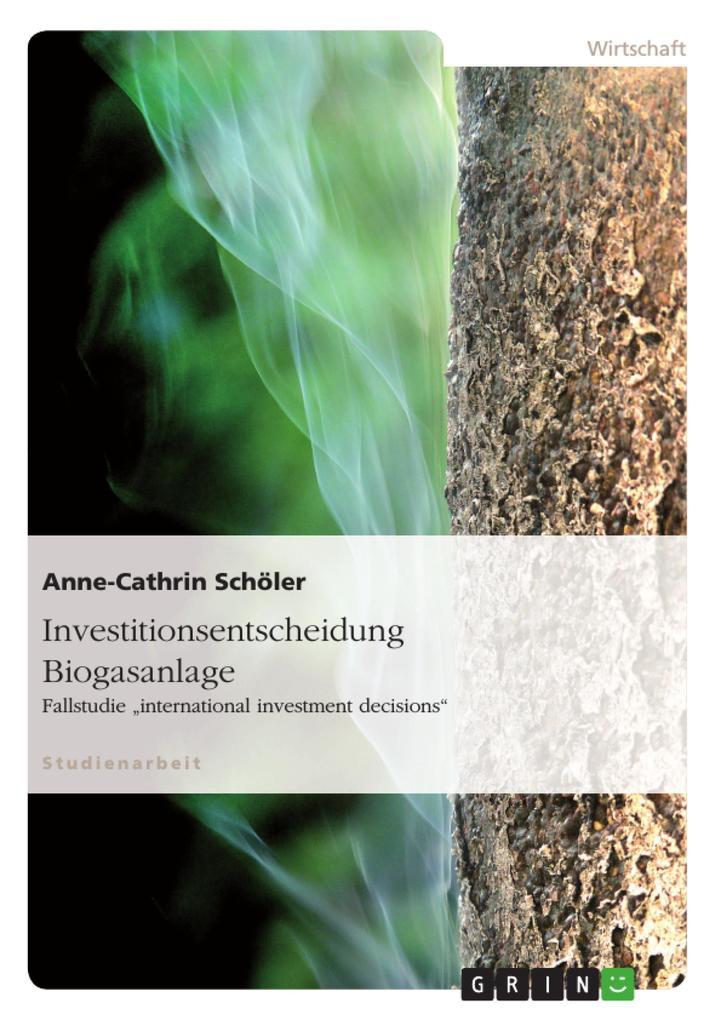 Investitionsentscheidung Biogasanlage als Buch