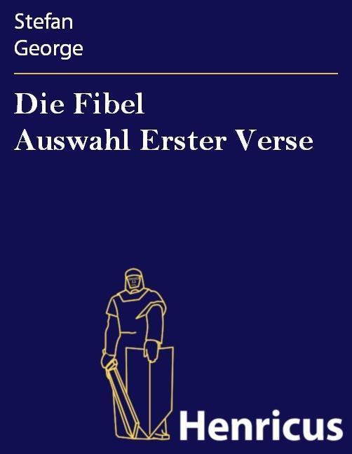 Die Fibel Auswahl Erster Verse